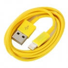 USB male to 8-pin male Data / Charging Lighting Cable for iPhone 5 - Yellow (96cm)