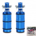 DIY Aluminum Alloy Motorcycle Back Pedals for Yamaha / YBR / Suzuki + More - Black + Blue (Pair)