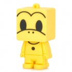 130 Cartoon Style USB 2.0 Flash Drive - Yellow + Black (8GB)