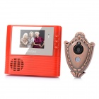 "FK-005YR 2.2"" LCD 300KP Wide Angle Peephole Camera Door Viewer - Red"