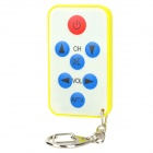 JKT002 Mini Universal Remote Control for TV Set - Greyish White + Yellow (1 x 2032)