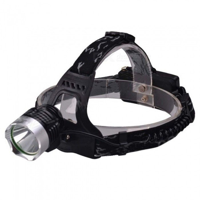 SingFire SF-522 1000lm 3-Mode White Light Headlamp w/ Cree XM-L T6 - Black + Silver (2 x 18650) 600lm 3 mode white bicycle headlamp w cree xm l t6 black silver 4 x 18650