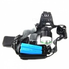 SingFire SF-522 1000lm 3-Mode White Light Headlamp w/ Cree XM-L T6 - Black + Silver (2 x 18650)