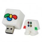 133 Cartoon Style USB 2.0 Flash Drive - White (8GB)
