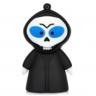143 Cartoon Ghost Style USB 2.0 Flash Drive - Black + White (8GB)