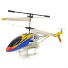 Rechargeable 3.5-CH IR Remote Controlled R/C Helicopter w/ Gyro - Yellow + Blue + Black