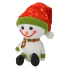 Christmas Decoration Cute Foam Snowman Doll - White + Red + Green + Black