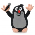 Cartoon Krteček Character Toy Cute Plush Mole Doll - Black