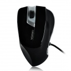 Aoni Xunlei 502 USB Wired Red Laser 800 / 1600dpi Game Mouse - Black + Silver (2.5m)