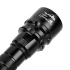 UltraFire Cree XM-L T6 860lm White Manual Dimming Diving Flashlight - Black (2 x 18650)