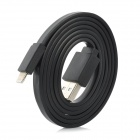 8 Pin Lightning Male to USB Male Data / Charging Flat Cable for iPhone 5 - Black (100cm)