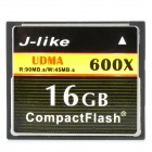 J-like CF600X-16G CompactFlash / CF Memory Card - Black (16GB / 600X)