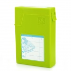 "Mukii Transimp ZIO-P015-GR Protective Plastic Case for 3.5"" HDD - Yellowgreen (Max 2TB)"