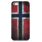 Vintage Norway National Flag Pattern Protective Back Case w/ Screen Protector Set for Iphone 5 - Red