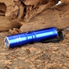 Cree XP-E R5 348lm 3-Mode White Zooming Flashlight - Blue (1 x AA / 14500)