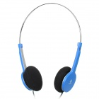 Stylish Stereo Headphone w/ Microphone for Tablet / PC - Blue + Silver