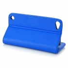 Stylish Protective Flip-Open PU Leather Case w/ Card Holder for Ipod Touch 5 - Blue