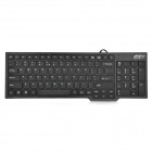 GuoYu SK-X04 USB 2.0 101-Key X-Type Wired Keyboard - Black (160cm-Cable)