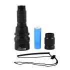 RUSTU RCH Cree XR-L T6 800lm 1-Mode Diming White Diving Flashlight with Strap - Black (1 x 18650)