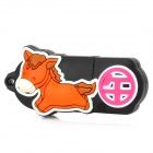 Twelve Zodiac Horse Style USB 2.0 Flash Disk Device - Black + Orange (4GB)