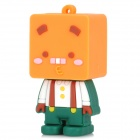 139 Cute Cartoon Robot Style USB 2.0 Flash Disk Device - Yellowish-Orange + Green (8GB)