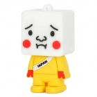 135 Cute Cartoon Robot Style USB 2.0 Flash Disk Device - Yellow + White (8GB)