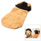 Soft Warm Lion Style Pet Clothes - Light Brown (Size S)