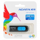 ADATA UV128/16GB Empuje de salida USB 3.0 de alta velocidad de dispositivos de disco flash - Negro + Azul (16 GB)