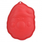 Santa Smiling Face Pattern Soft Silicone Cake Mold - Red