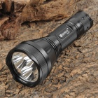 RUSTU R3B 3 x Cree XM-L T6 2500lm 5-Mode White Flashlight - Black (1 x 18650 / 1 x 26650)