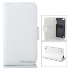Stylish Protective Flip-Open PU Leather Case w/ Card Holder for Ipod Touch 5 - White