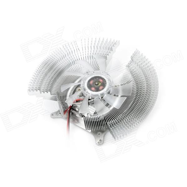 2800RPM Aluminum Alloy Heatsink w/ Cooling Fan - Silver bore size 80mm 10mm stroke double action with magnet sda series pneumatic cylinder