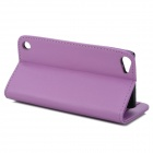 Stylish Protective Flip-Open PU Leather Case w/ Card Holder for Ipod Touch 5 - Purple
