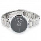 Wilon 938G Stainless Steel Quartz Wrist Watch for Men - Silver + Black (1 x SR626SW)