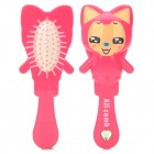 GJ889 Cute Ali Style Massaging Hair Brush - Deep Pink + Yellow + Black