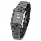 Wilon WL1062 Stainless Steel Square Dial Analog Quartz Wrist Watch for Women - Black (1 x SR626SW)