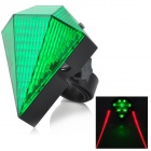 3-Mode Green Light Bicycle Laser Taillight w/ Power Adapter - Green + Black