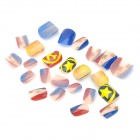 Art design multi-motif décoratif Conseils faux ongles - Colorful (24 PCS)