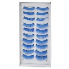 False Eyelashes for Beauty Makeup - Blue (10-Pair)