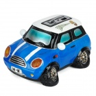 AF-126 Mini Car Model MP3 Player Speaker for Vehicle w/ SD Slot & SD Card Adapter - Blue + Black
