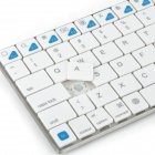 "k77 7"" Wireless Bluetooth V3.0 + HS 80-Key Keyboard for Ipad / Iphone / Laptop + More - White"