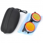 Foldable UV400 Protection Resin Lens Sunglasses - Black + White + Red