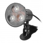 0.5W USB 3-LED White Light Bulb w/ Clip - Black (DC 5V)