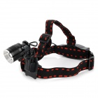 068B Cree XM-L T6 600lm 5-Mode White Light Zooming Headlamp - Black (1 x 18650)