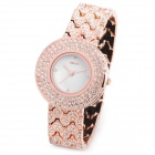 WEIQIN WQ84243 Zinc Alloy Rhinestone Analog Quartz Wrist Watch for Women - Rose Gold (1 x 377)