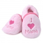 Cute Heart Pattern Baby Cotton + Polyester Anti-Skid Schuhe - Light Pink (Pair)