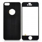 Protective Aluminum Alloy Front + Back Skin Sticker für iPhone 5 - Black
