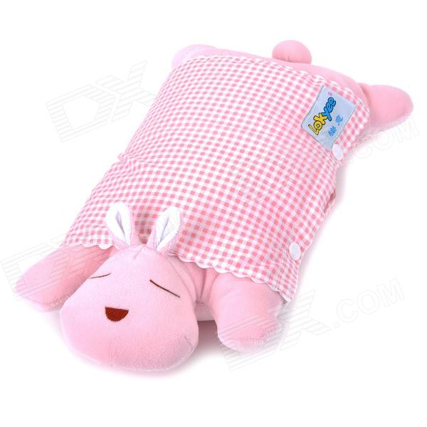 Cute Cartoon Pattern Baby Avoid Flat Position Pillow - Pink