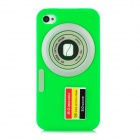 Camera Style Protective Silicone Back Case for Iphone 4 / 4S - Green