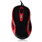 Aoni CANYON-XuanGuang 502 USB Wired 400 / 800 / 1600dpi Optical Mouse - Black + Red (150cm)